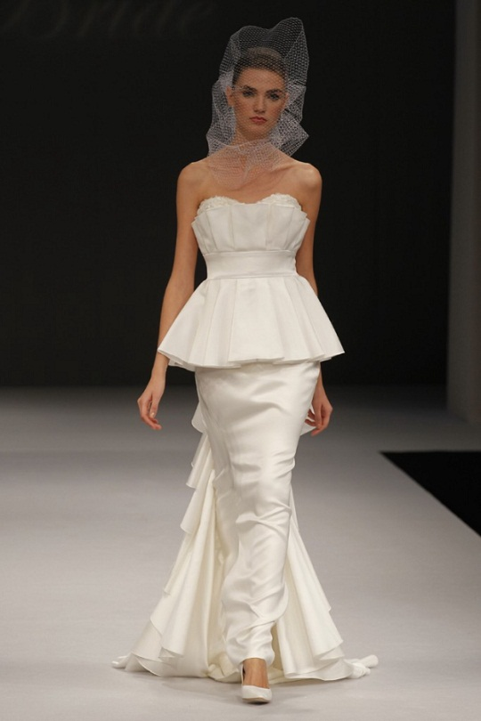 Two Tiered Wedding Gown Trend...