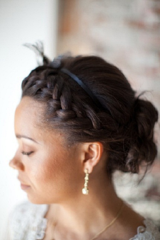 Front Braid Summer Wedding Hairstyle...