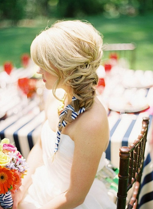 Ribbon Summer Wedding Hairstyle...