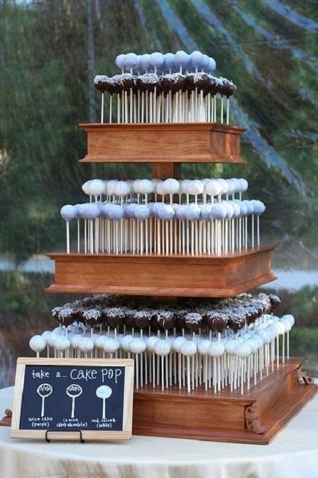 pin cake pop stand 7 interesting non wedding ideas cake on pinterest. Black Bedroom Furniture Sets. Home Design Ideas