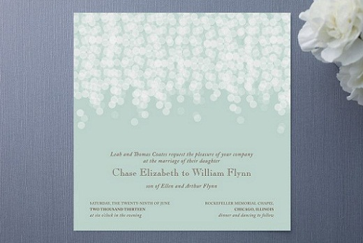 Mint Green Wedding Invitation...