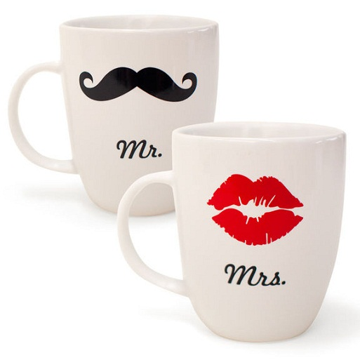 Great Wedding Gifts Not On The Registry : Mr. & Mrs. Mug Set...8 Adorable Mr. & Mrs. Wedding Items to?