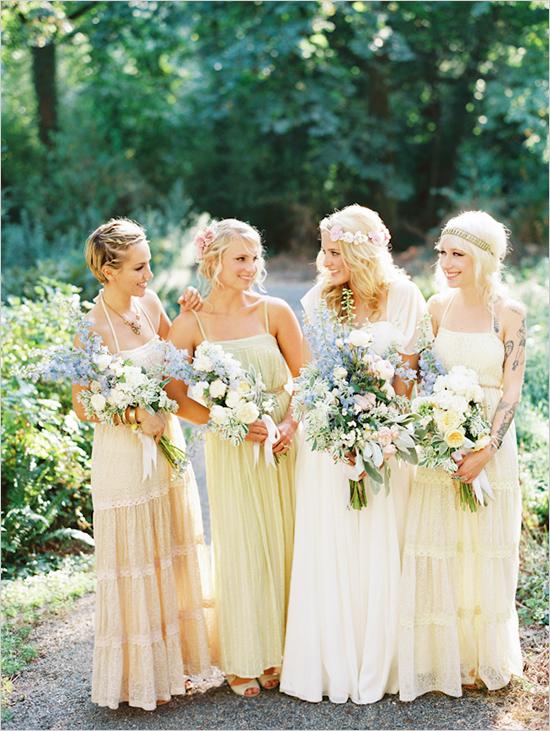 Bohemian Chic Bridesmaids... - 10 Bohemian Chic Wedding Ideas... …