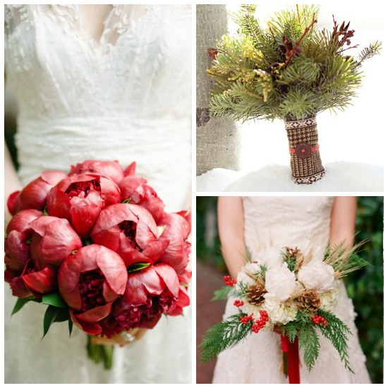 Christmas Wedding Bouquets And Flowers: 8 Charming Ideas For A Christmas Wedding