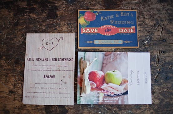 Apple Decor Wedding Invitation...