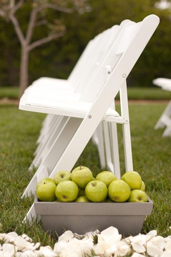 Apple Decor Wedding Aisle...