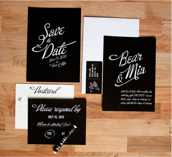 Chalkboard Wedding Invitation...