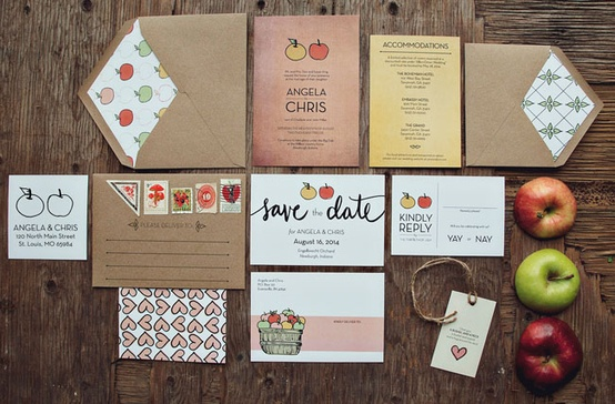 Foodie Themed Wedding Invitation...