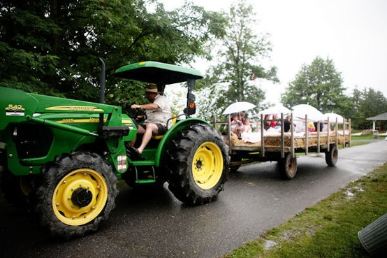 tractor wagon 7 fun wedding transportation ideas