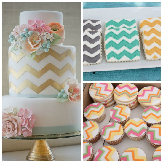 Chevron Themed Wedding Food...