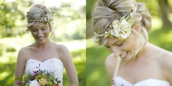 Pleasing Simple Bridal Floral Crown 7 Gorgeous Bridal Floral Crown Hairstyle Inspiration Daily Dogsangcom