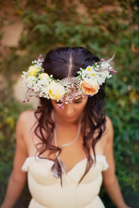 Feather Bridal Crown...