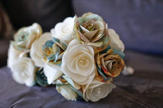 Travel Theme Wedding Bouquet...