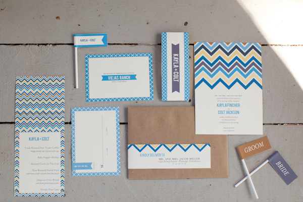Chevron Themed Wedding Invitation...