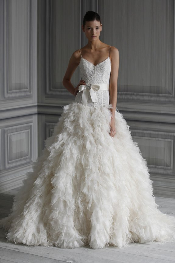 Feather Themed Wedding Dress...