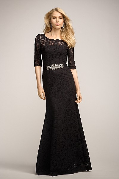 Lace Winter Bridesmaid Dress