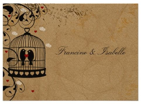 lovebirds wedding invitation - 9 lovely lesbian wedding…, Wedding invitations