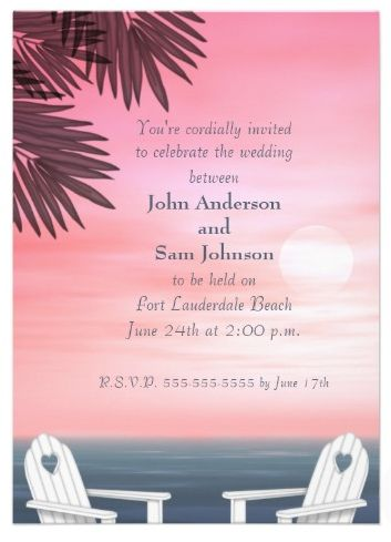 Custom Beach Wedding Invitation