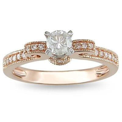 ZalesRoseGold 7 Beautiful Rose Gold Engagement Rings