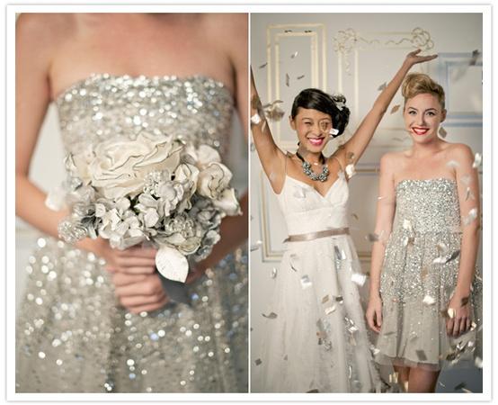 Sparkly Bridesmaids... - 8 Fun Ideas for a Sparkly Wedding…