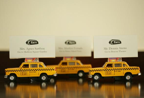 Taxi Cab Escort Cards...