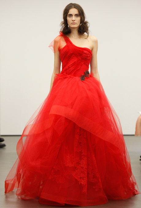 7 show stopping red wedding gowns for All red wedding dresses