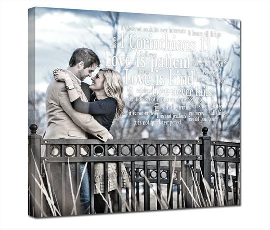 Engagement Portrait Canvas or Photo Print