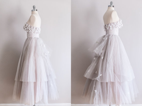 1950s Tulle Vintage Wedding Dress