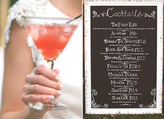8 fun ideas for a great gatsby themed wedding for Great alcoholic mixed drinks