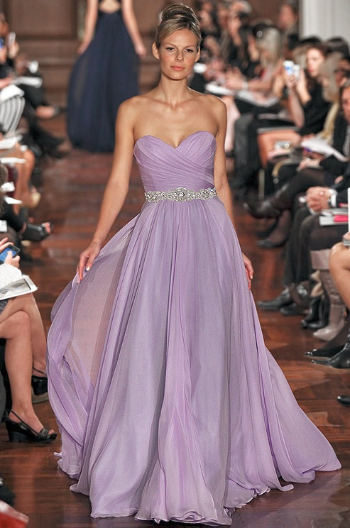Purple - 7 Beautiful Pastel Wedding Gowns ... → 👰 Wedding