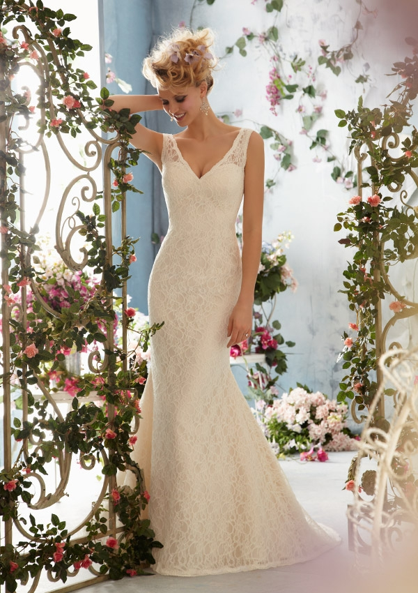 Who Says All Wedding Dresses For Your Second Wedding Have To Be Short And  Boring? This Number By Mori Lee Drops In The Back And Tailors To A Womanu0027s  Curves.