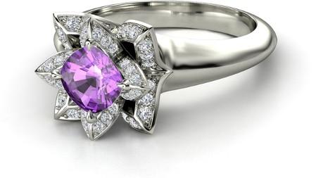 Wedding Ring Alternatives 30 Fancy Cushion Cut Lotus Ring