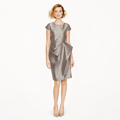 Long silk dupioni dress
