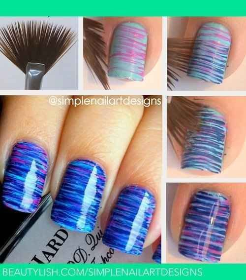 Use a Fan Brush to Create a Striped Effect