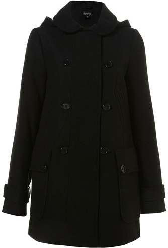 2. Topshop Black Double Breasted Hooded Coat - 10 Winter Coats to…