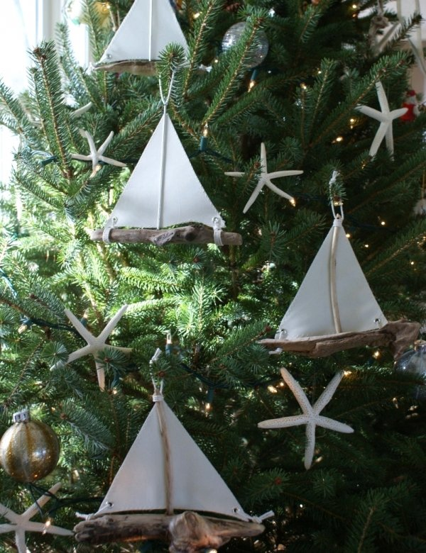 Driftwood Boat Ornaments