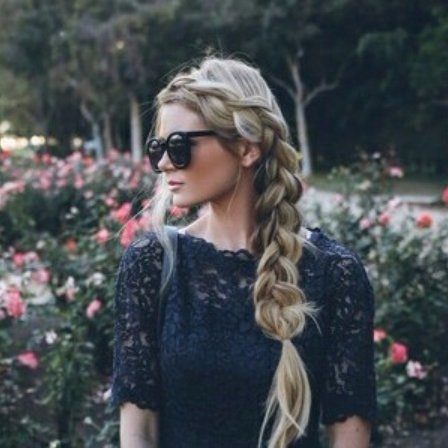 hair, hairstyle, blond, flower, spring,