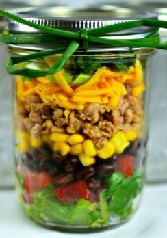 Taco Mason Jar Salad