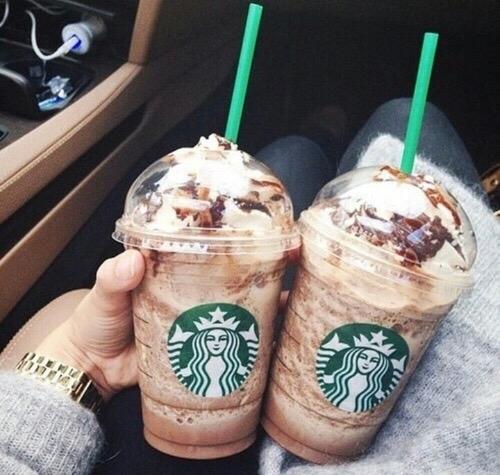 Starbucks, food, ice cream, milkshake, drink,