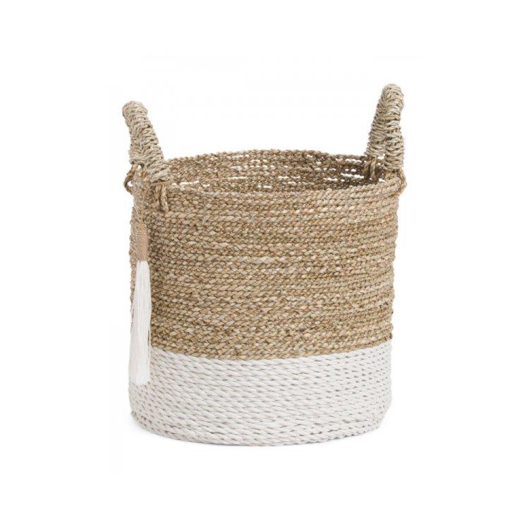 Small Seagrass Raffia Basket By Max Studio 95