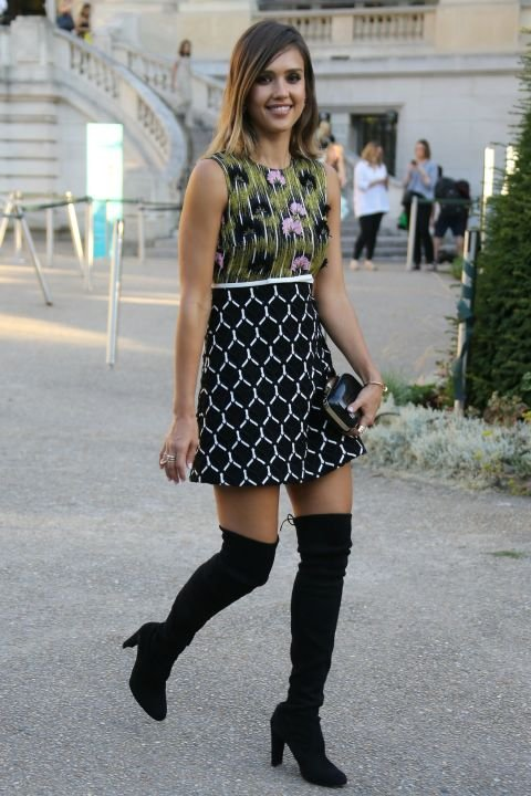 A Summery Dress with over the Knee Boots
