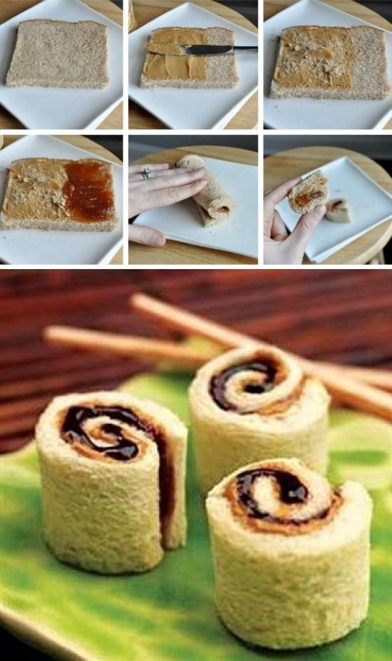 Peanut Butter and Jelly Sushi