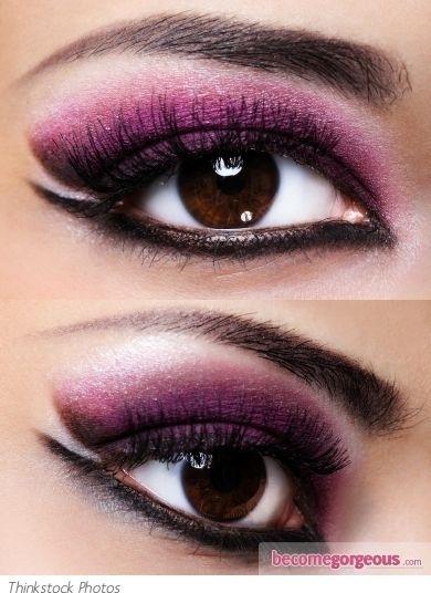 Purple and Black Eye Makeup Look