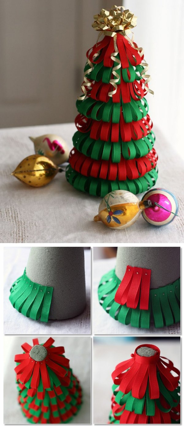 How to make ribbon christmas tree - Diy Ribbon Christmas Tree