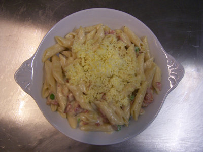 Pasta with Bacon and Cheese
