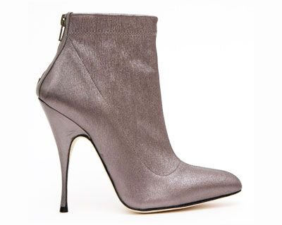 Brian Atwood Metallic Ankle Boot