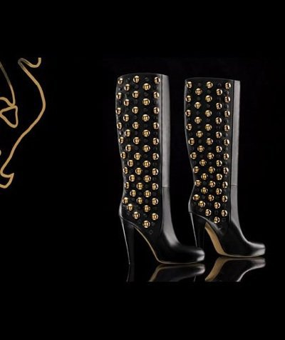 Babouska High Heel Boots with Studs