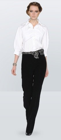 White Shirt With Black Pants