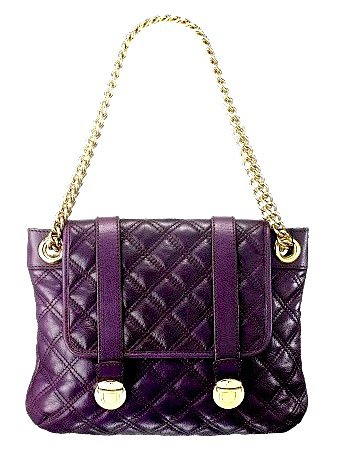 Marc Jacobs Purple Bag with Golden Chain
