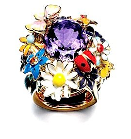 "Dior ""Diorette"" Ring with Amethyst"